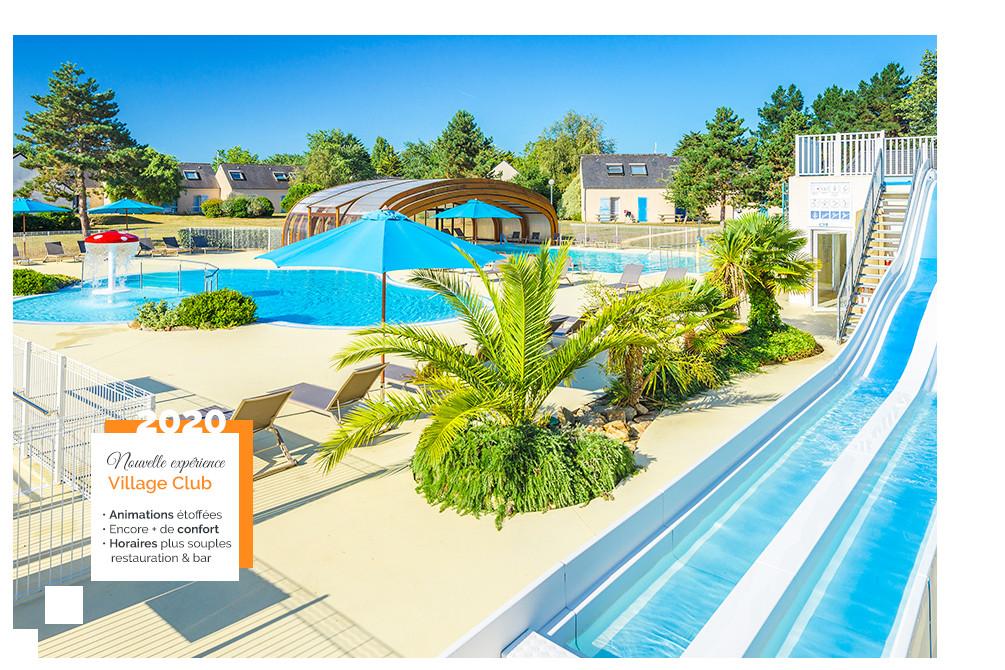 village vacances club piscine kerjouanno bretagne